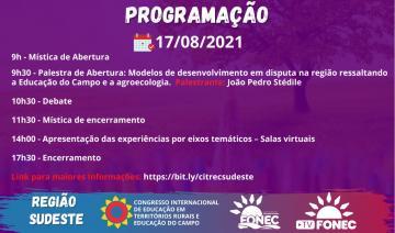 Programação 17/08/2021