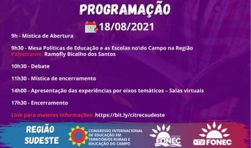 Programação 18/08/2021
